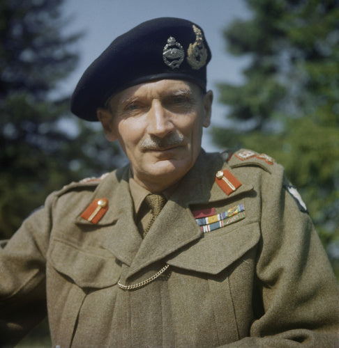 Portrait of the Commander of the Eighth Army General Sir Bernard Montgomery