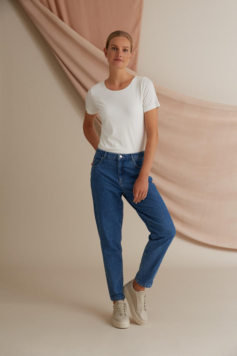 Voglia Holly viistaskufarkut sininen denim
