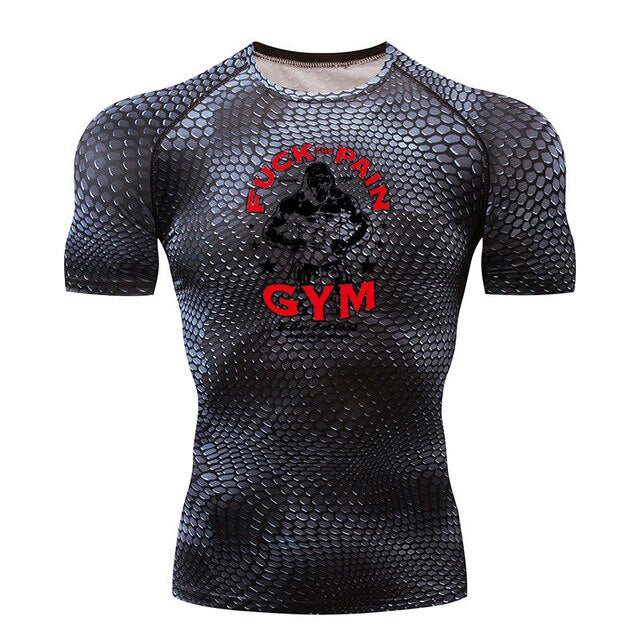 Mens Short Sleeve Compression Shirt