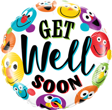 ADD ON: Get Well Soon Balloon (Auckland Only)-Gift Boxes and sweet treats New Zealand wide-Celebration Box NZ