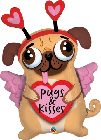 ADD ON: Pugs & Kisses Balloon-Gift Boxes and sweet treats New Zealand wide-Celebration Box NZ