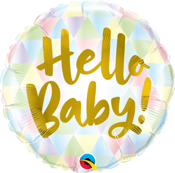 ADD ON: Hello Baby Balloon (Auckland Only)-Gift Boxes and sweet treats New Zealand wide-Celebration Box NZ