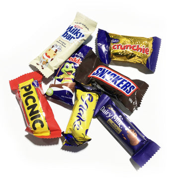 ADD ON: Extra Assorted Mini Chocolate Bars-Gift Boxes and sweet treats New Zealand wide-Celebration Box NZ