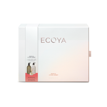 Ecoya Guava & Lychee Sorbet Gift Set-Gift Boxes and sweet treats New Zealand wide-Celebration Box NZ
