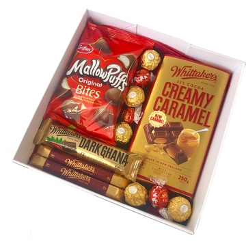 Red & Gold Choc Treats-Gift Boxes and sweet treats New Zealand wide-Celebration Box NZ