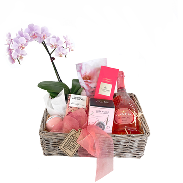 Lush Pink Mothers Day Gift Basket