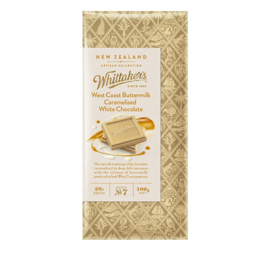 ADD ON: Whittaker's Buttermilk Caramelised White Chocolate Block