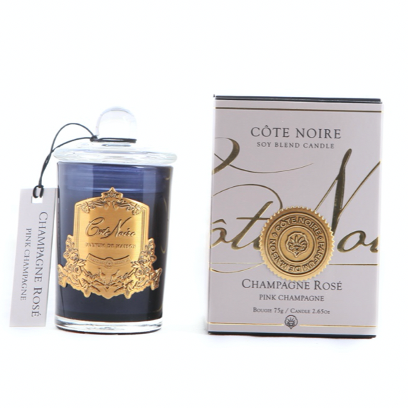 ADD ON: Cote Noire Soy Blend Candle - Champagne Rose