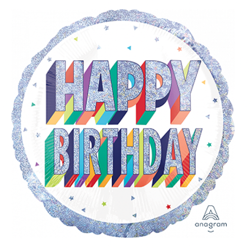 ADD ON: Happy Birthday Holographic Balloon (Auckland Only)