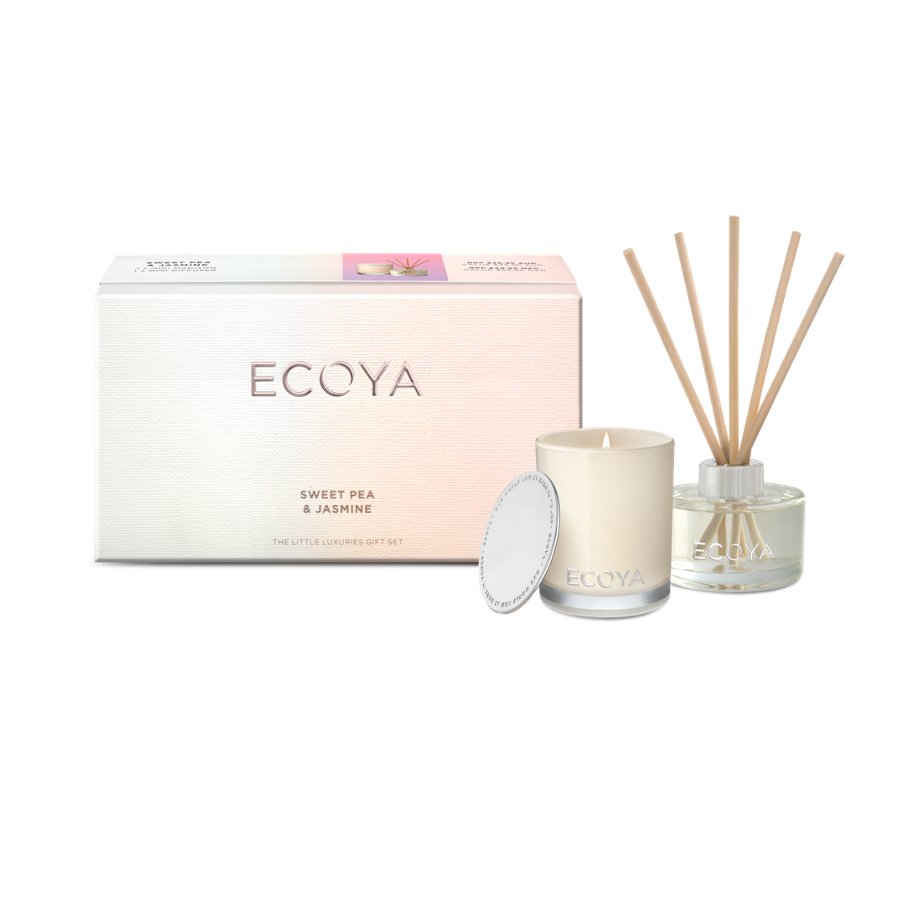 Ecoya Little Luxuries Gift Set - Sweet Pea & Jasmine-Gift Boxes and sweet treats New Zealand wide-Celebration Box NZ