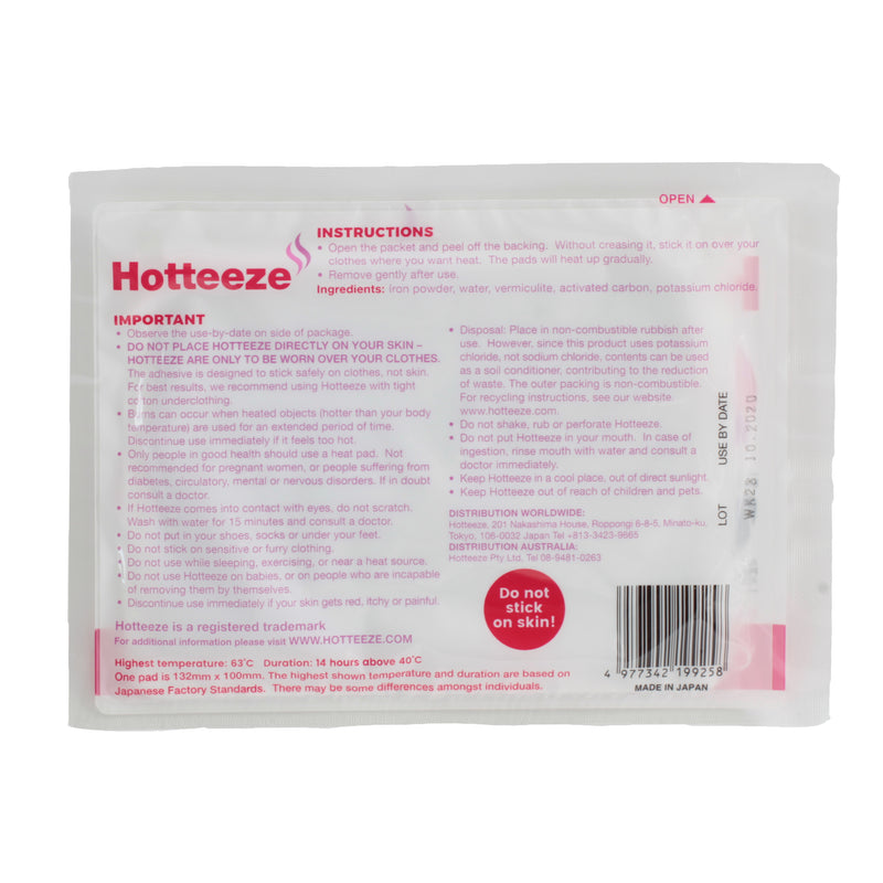 Hotteeze Heat Pads (24 packs 240 pads) FREE SHIPPING!
