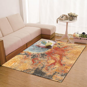marrone sabbioso Abstract In stock rugs