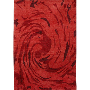 Swirl -The red handmade carpet\rug