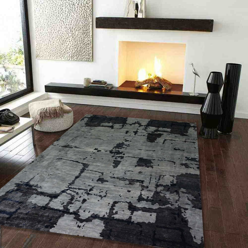 Extraire - The abstract contemporary throw rug