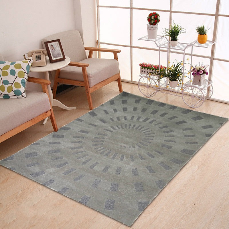 Gyrate - The simple clean bedroom area rug