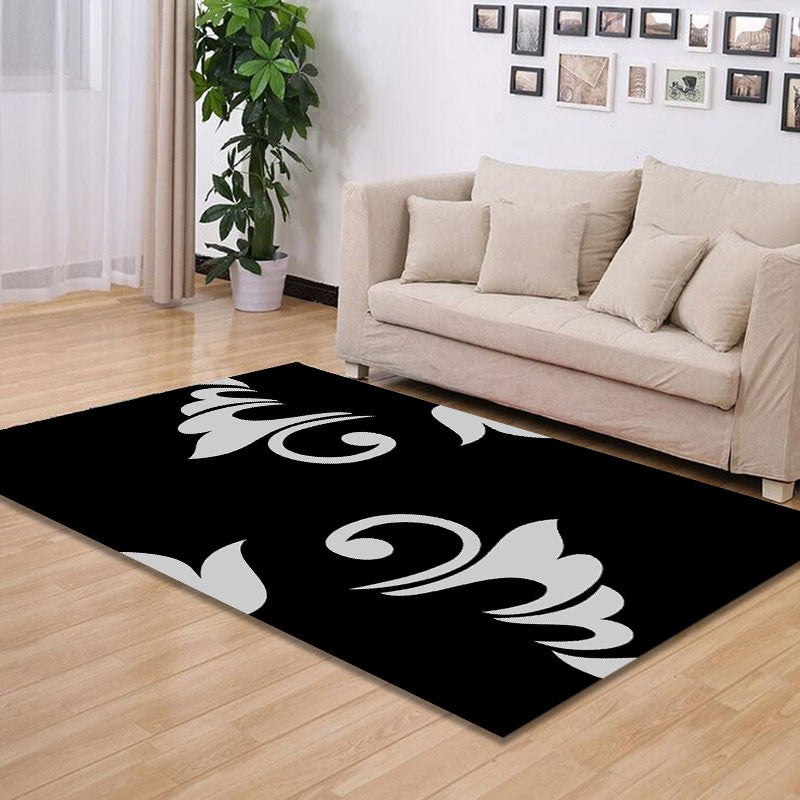 Zwart - The simple dual color indoor rug