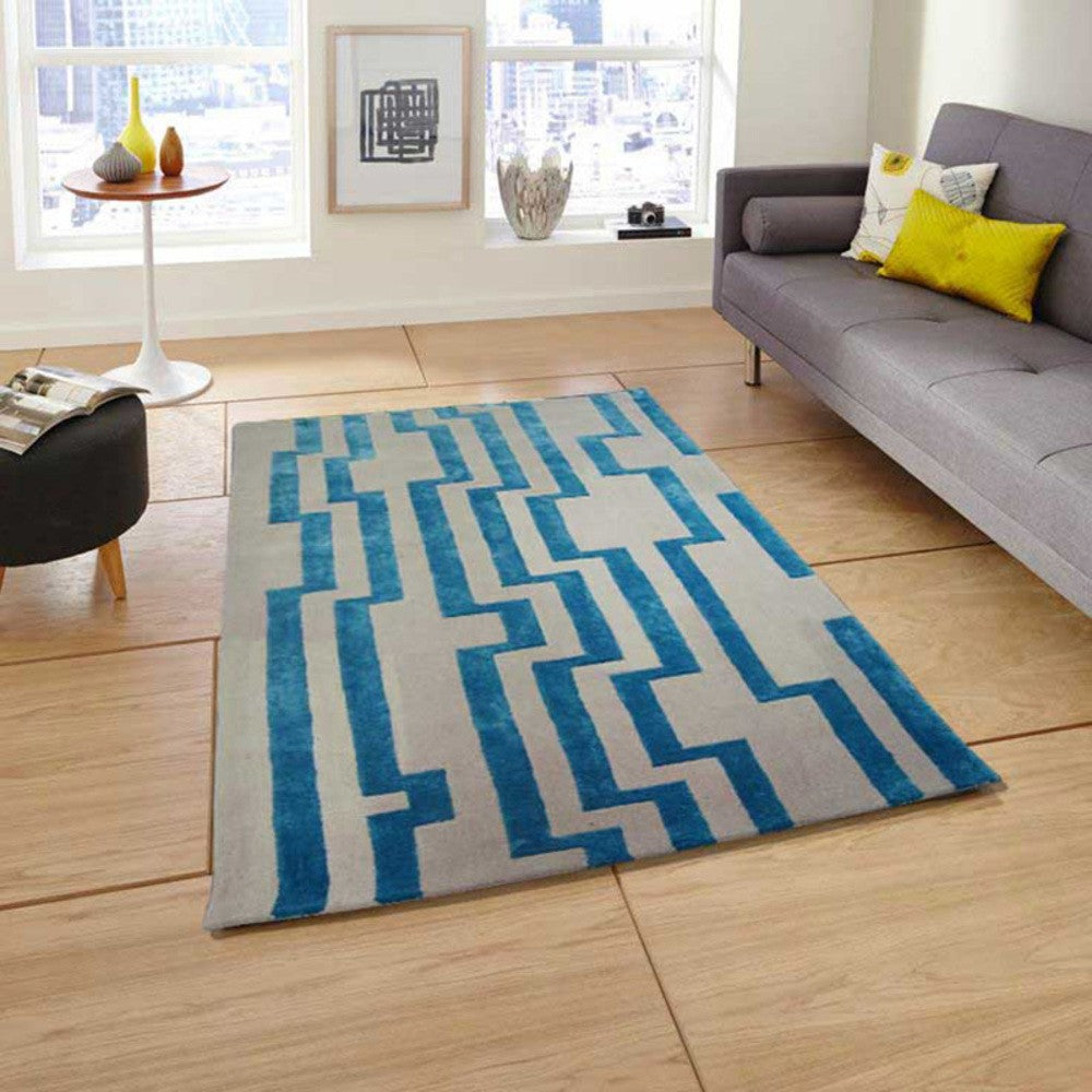 Digiwave - The simple two color area rug