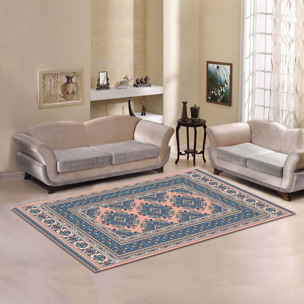 Aarohi - The light colored hand made area rug