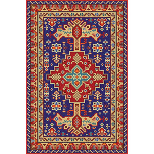 Aroha - The red blue indoor area rug