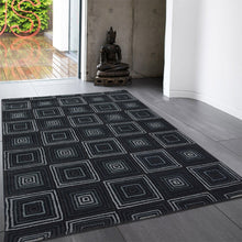 ayant - simple brown living area rug