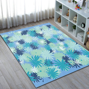 blomst - the blue simple bedroom area rug