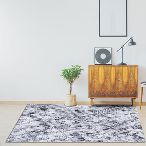 Chizu - The gray designer hand woven area rug