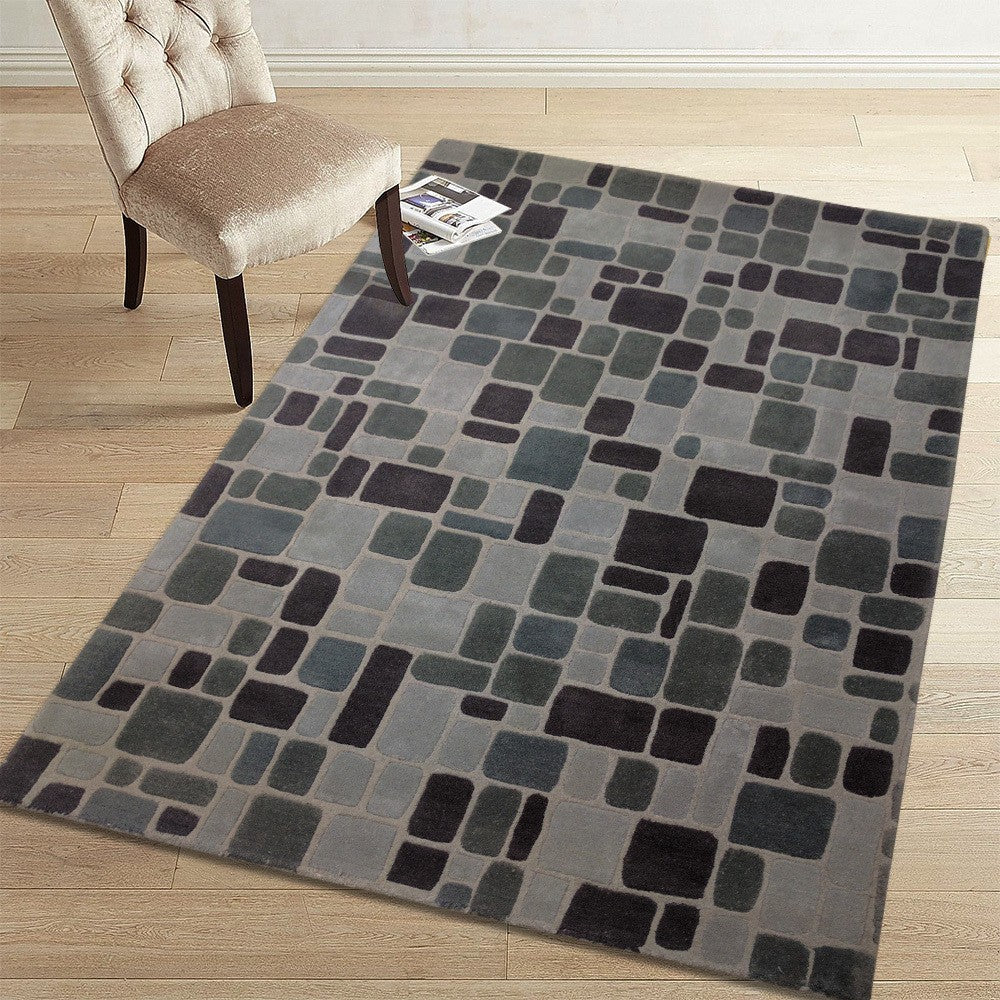 cigle - modern dark living area rug