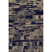 Diffiniad - The dark blue brown indoor area rug