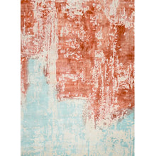 duetas - the blue brown contemporary rug