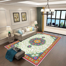 Elosia - The colorful hand woven bedroom rug