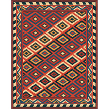 Eni - The simple dark rural indoor area rug