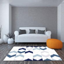 Gracilis - The blue white hand made rug