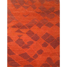 haya - the red modern area rug