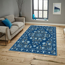 Herlig - The teal hand made living area rug
