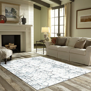 Inci - The simple white gray indoor area rug
