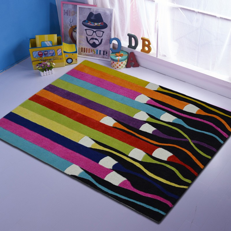 kalem - colorful living area rug for kids