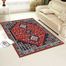 Kara - A beautiful red bedroom area rug