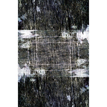 Kraai - The black hand woven indoor area rug