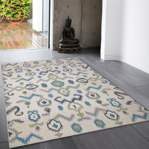 krasiva - colorful indoor rural area rug