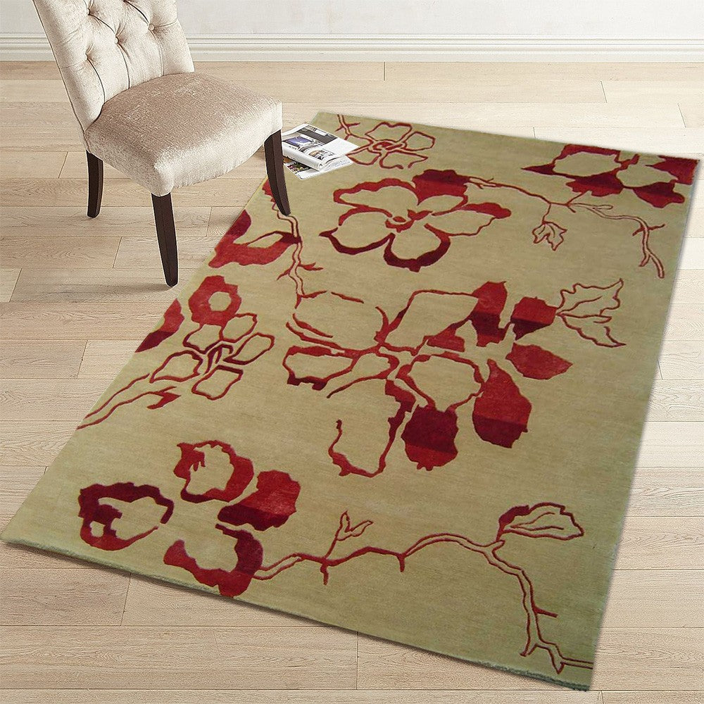 kvietka - the natural simple floral rug
