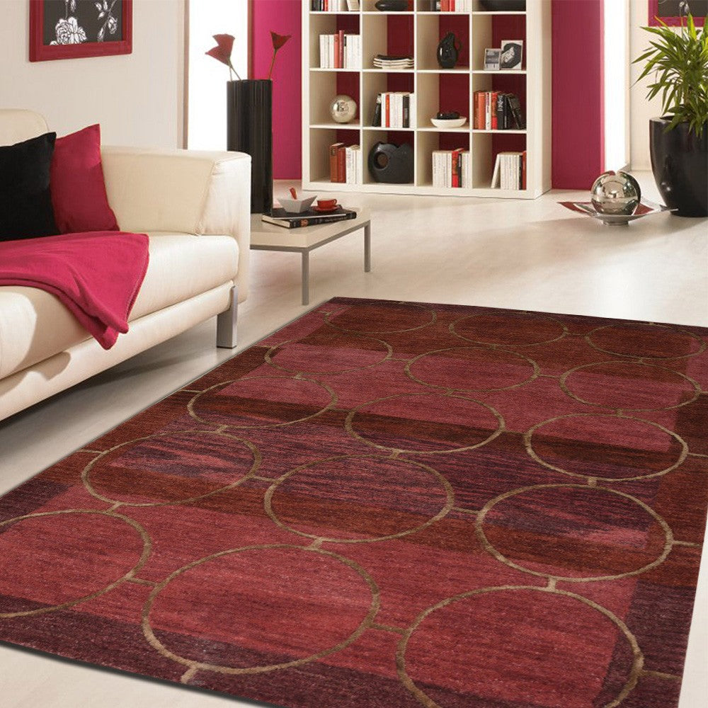 liab kub - the red classical bedroom rug