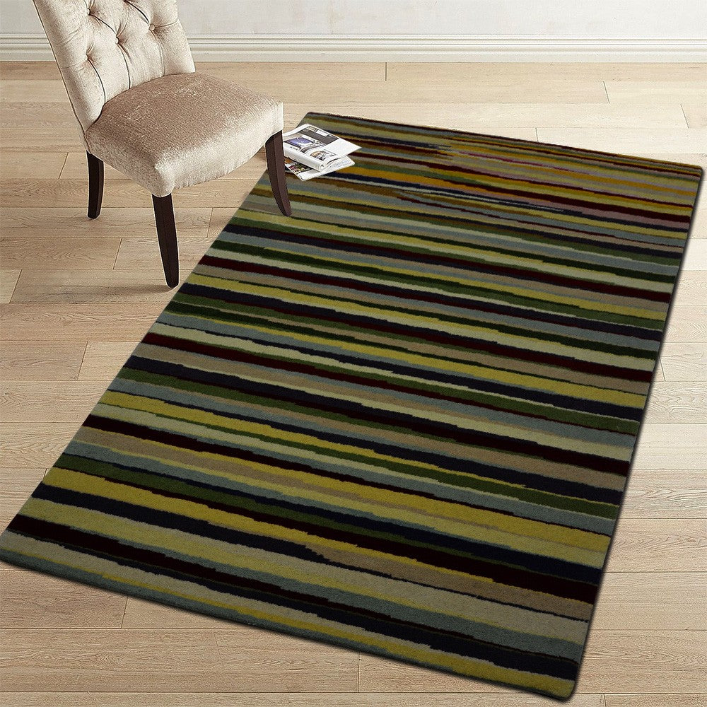 linya - simple colorful indoor area rug