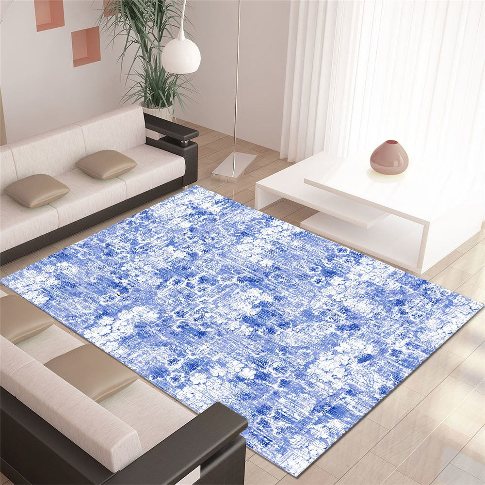 Mastilo - The blue abstract indoor area rug