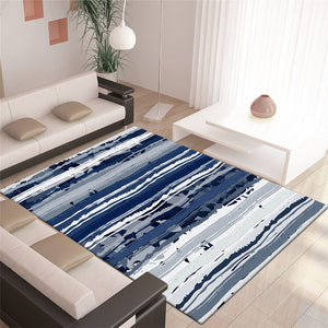 Qiell - The blue carpet rug for bedroom