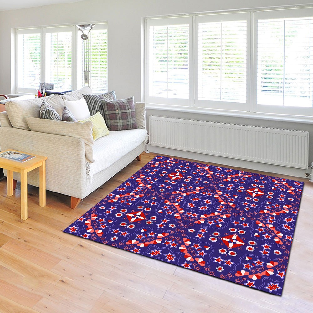 Regalien - The contemporary blue indoor rug