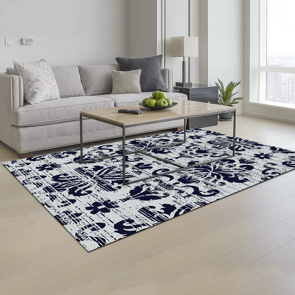 Schedia - The gray blue hand woven rug