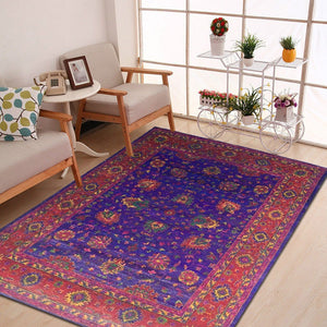sifa - the traditional persian blue red rug