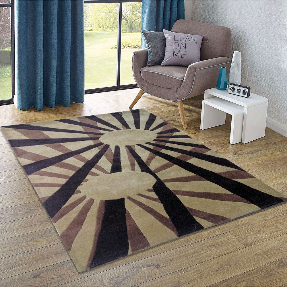 solis - brown bedroom area living rug