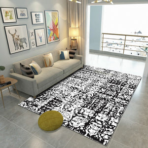Tetee - The black and white hand made rug
