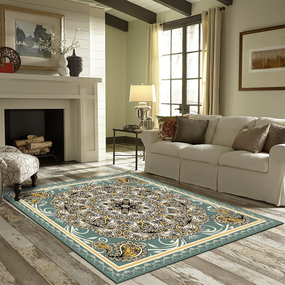 Trisha - The artistic square indoor area rug